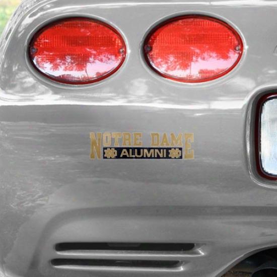 Notre Dame Fighting Irish Alumni Car Decal