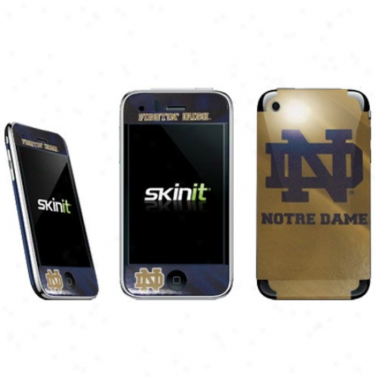 Notre Dame Fighting Irish Gold Iphone Flay Decal
