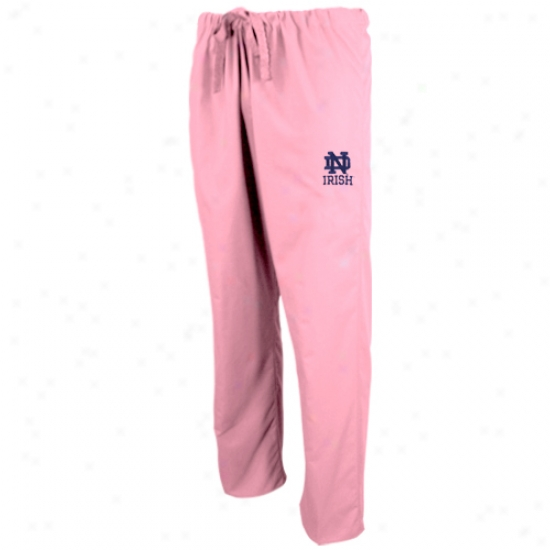 Notre Dame Fighting Irish Pink Scrub Pants