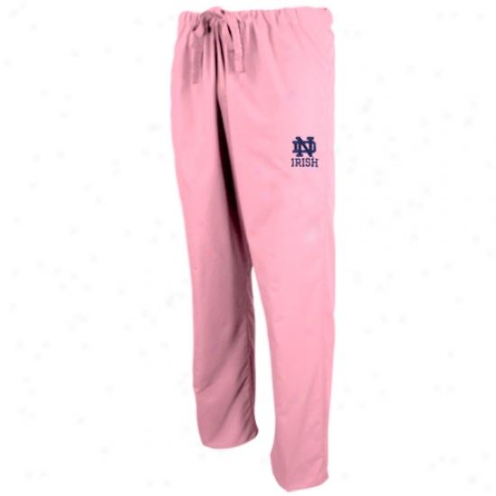 Notre Dame Fighting Irish Pink Scrub Pants