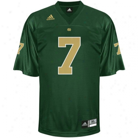 Notre Dame Jersey : Adidas Notre Dame #7 Kelly Green Replica Football Jersey