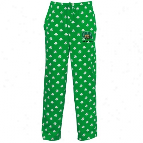 Ohio Bobcats Kelly Green St. Patrick's Day Shamrock Pajama Pants
