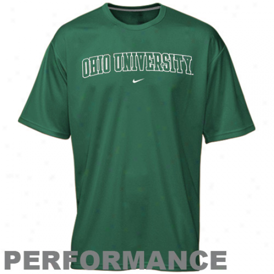 Ohio Bobcats Tshirts : Nike Ohio Bobcats Gdeen Vertical Arch Performance Tshirts