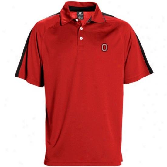 Ohio St University Polo : Sports Specialties By Nike Ohio St University Scarlet Classic Mesh Polo