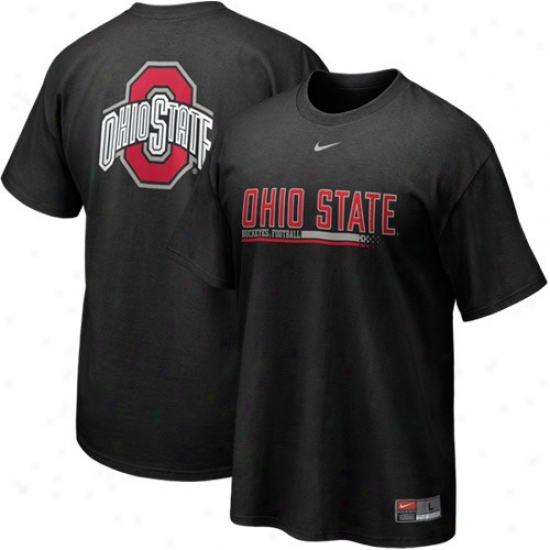 Ohio St University Shirts : Nike Ohio St University Black 2010 Practice Shirts