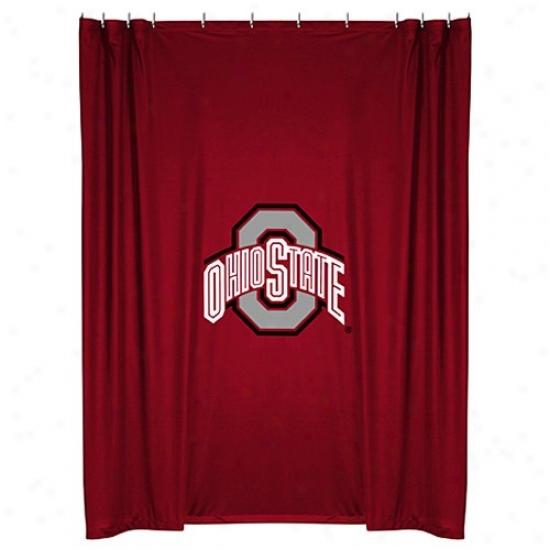 """""""ohio State Buckeyes 72""""""""x72"""""""" Shower Curtain"""""""