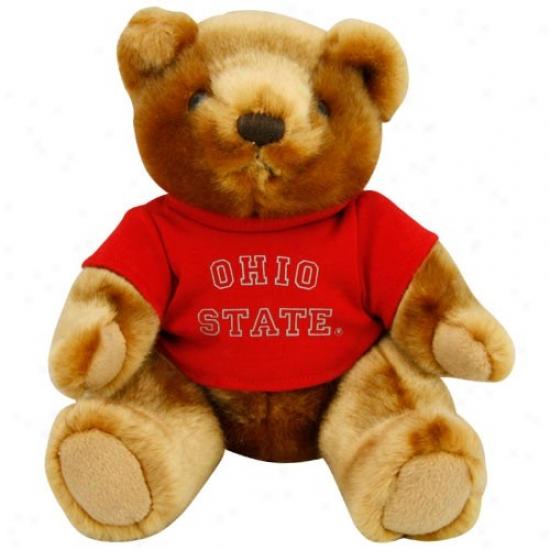 Ohio State Buckeyes 9'' Mink Bear Upon School T-shirt