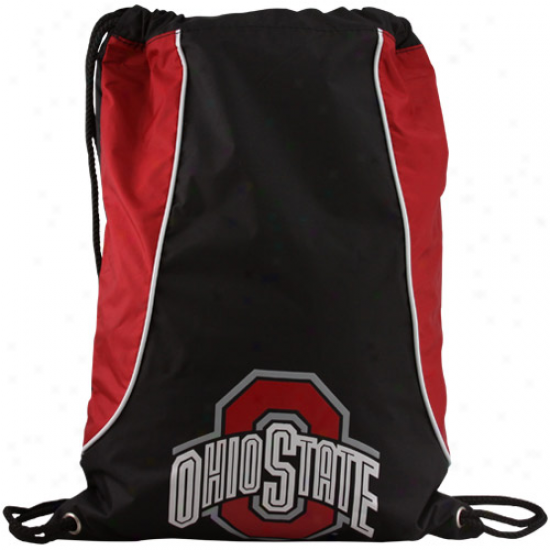 Ohio State Buckeues Black-scarlet Axis Drawstring Backpack