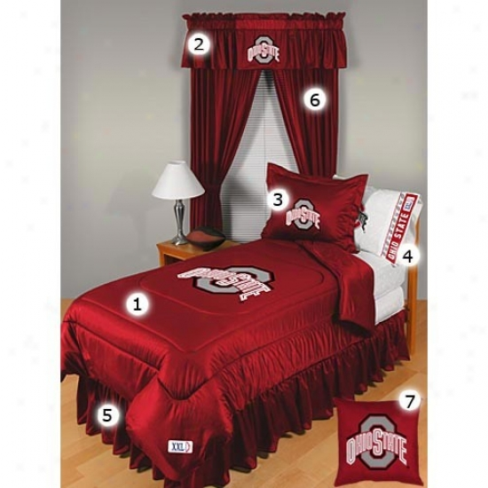 Ohio State Buckeyes Full Size Locker Room Bedroom Set