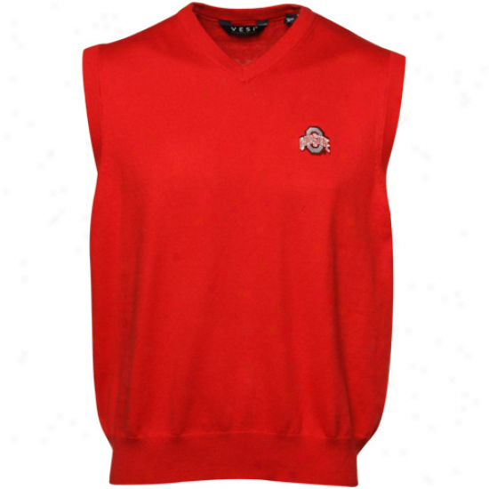Ohio State Buckeyes Scarlrt Sweater Vest