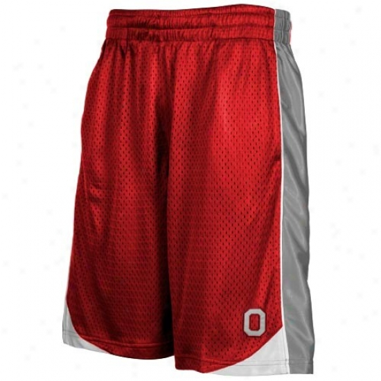 Ohio State Buckeyes Scarlet Vector Workout Shorts