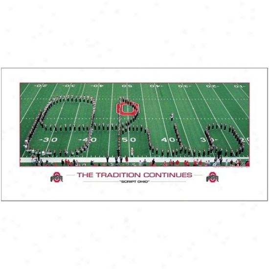 Ohio Staet Buckeyes Script Ohio: The Tradition Continues Photo Print