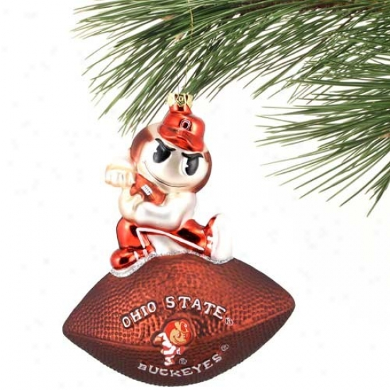 Ohio State Buckeges Team Courage Ornament