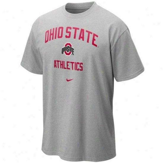 Ohio State Tshirt : Nike Ohio State Ash Gym Tshirt