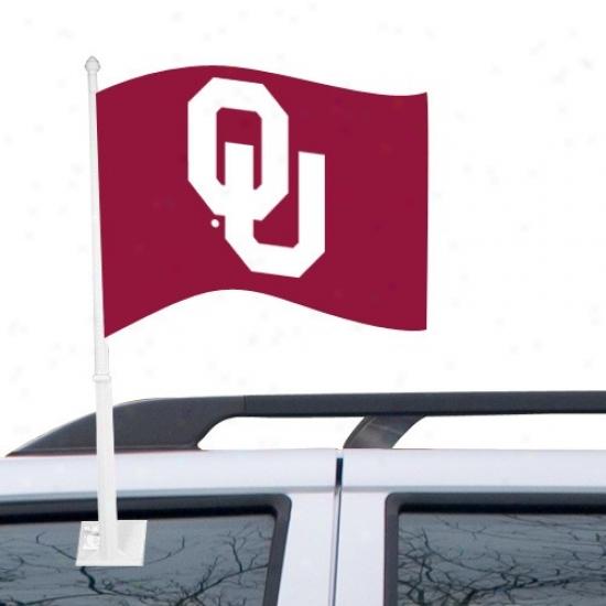 Oklahoma Banners : Oklahoma Crimson Car Banners