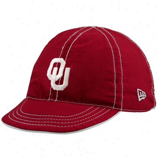 Oklahoma Sooner Hat : New Era Oklahoma Sooner Crimson-cream Infant Mesa Flip Reversible Hat