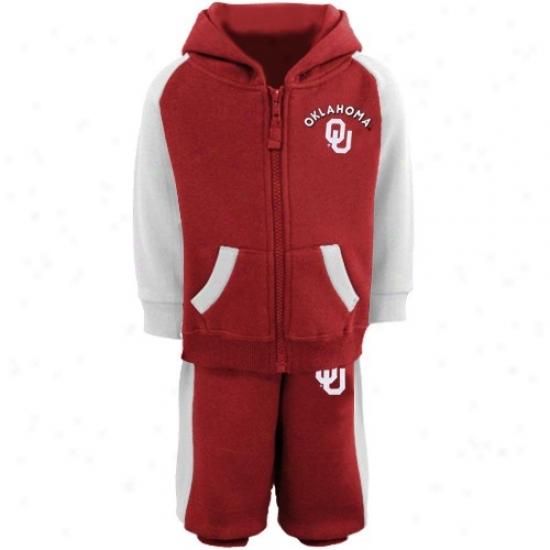 Oklahoma Sooner Toil Shirt : Oklahoma Sooner Infant Crimson Tribute Sweat Shirt & Sweatpants Set