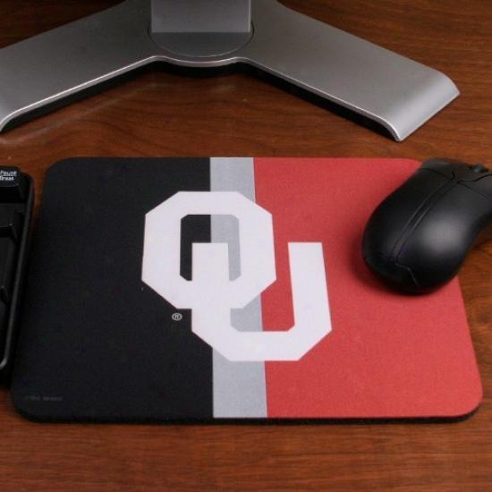 Oklahoma Sooners Black-crimson Classuc Neoprene Mousepad