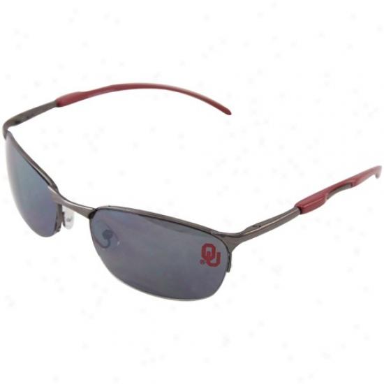Oklahoma Soonera Crimson Metal Sunglasses