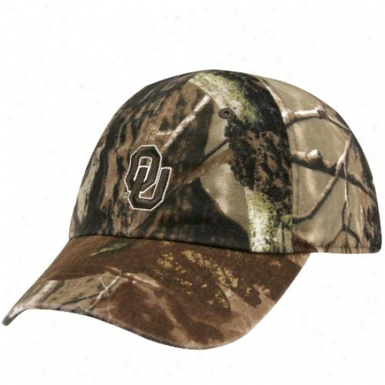Oklahoma Sooners Hat : Nike Oklahoma Sooners Ladies Real Tree Camo Adjustable Slouch Hat