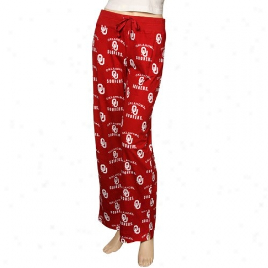Oklahoma Sooners Ladies Crimson Maverick Pajama Pants