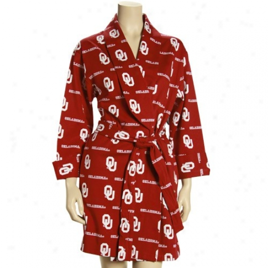 Oklahoma Sooners Ladies Crimson T2 Robe