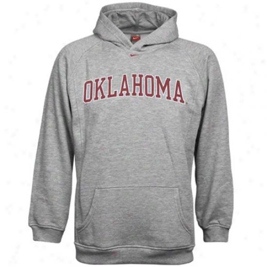 Oklahoma Sooners Sweatshirt : Nike Oklahoma Sooners Ash Youth Classic Sweatshirt