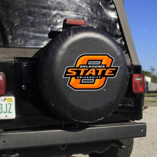 Oklahoma State Cwoboys Black Logo Tire Cover