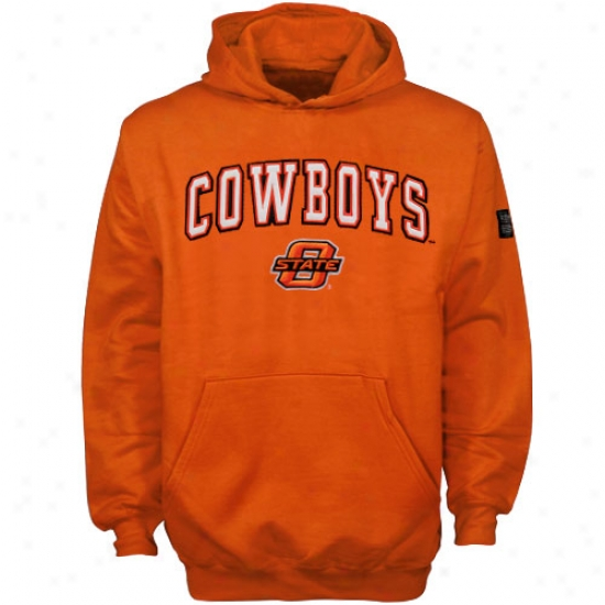 Okkahoma Commonwealth Cowboys Hoodie : Oklahoma State Cowboys Orange Youth Automatic Hoodie
