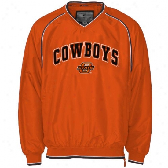 Oklahoma State Cowboys Jackets : Oklahoma State Cowboys Orange Stratus Pullover Jackets