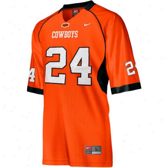 Oklahoma State Cowboye Jersey : Nike Oklahoma State Cowboys #24 Replica Football Jersey - Orange