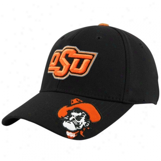 Oklahoma State Cowboys Merchandise: Top Of The World Oklahoma State Cowboys Black Tailback 1fit Hat
