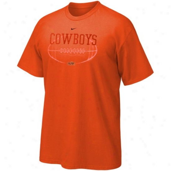 Oklahoma State Cowboys T Shirt : Nike Oklahoma Condition Cowboys Orange Quarterback Draw T Shirt