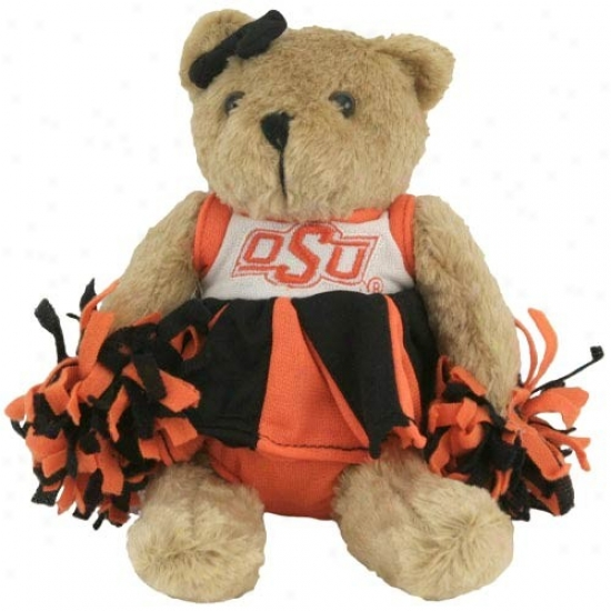 Oklahoma State Cowgoys Talking Cheerleading Plush Bear