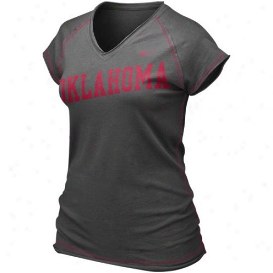 Oklahoma Tshirts : Nike Oklahoma Ladies Charcoal 2010 Ole Faithful Tsshirts