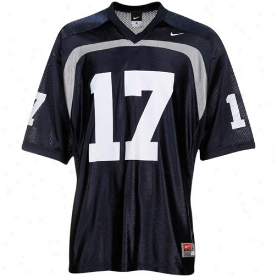 Old Dominion Monarchs Jerse6s : Nike Ancient Dominion University #17 Replica Footbail Jerseys - Navy Blue