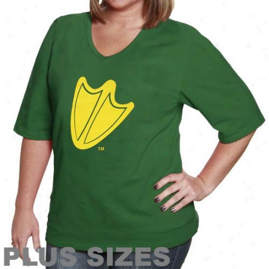 Oregon Duck Sbirt : Oregon Duck Women's Green Team Logo Shirt