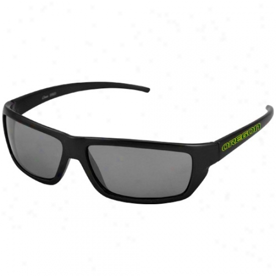 Oregon Ducks Black Team Wordmark Sunglasses