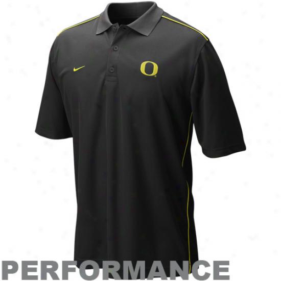 Oregon Dhcks Clothing: Nike Oregon Ducks Black Core Performance Polo