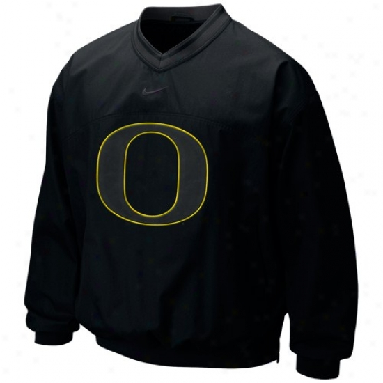 Oregon Ducks Jackets : Nike Oregon Ducks Black Classic Seasonal Windshirt