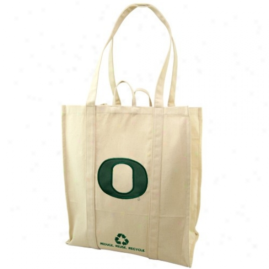 Oregon Ducks Natural Resuable Organic Tote Ba