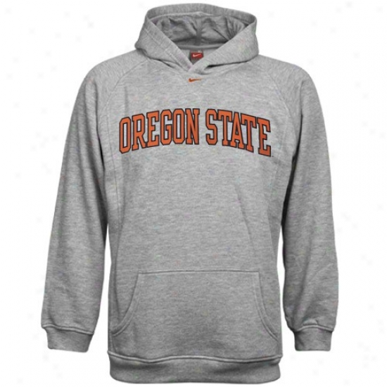 Oregon Sate Beaver Sweat Shirts : Nike Oregon State Beaver Ash Youth Classic College Sweat Shirts