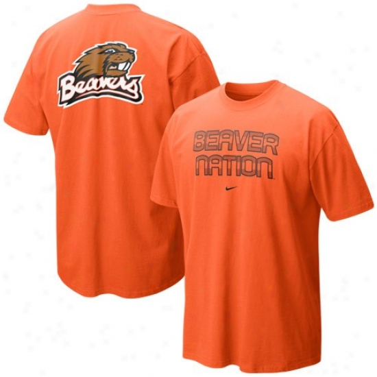 Oregon State Beaver Tee : Nike Oregon State Beaver Orange Our House Local Tee
