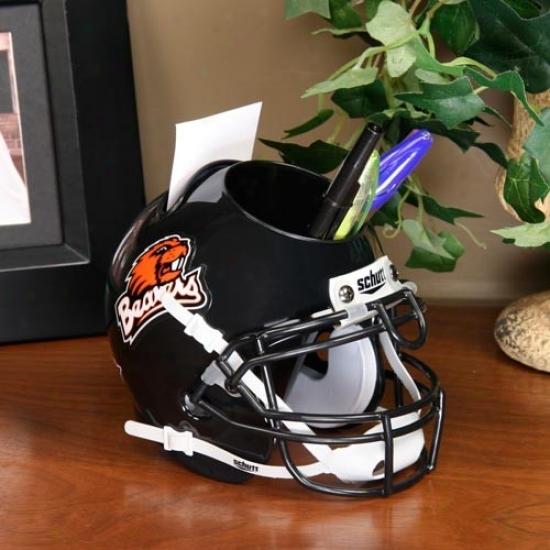 Oregon State Beavers Black Mini Football Helmet Desk Caddy