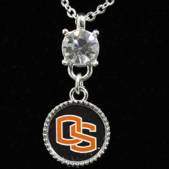 Oregon State Beavers Ladies Crystal Stud Necklace