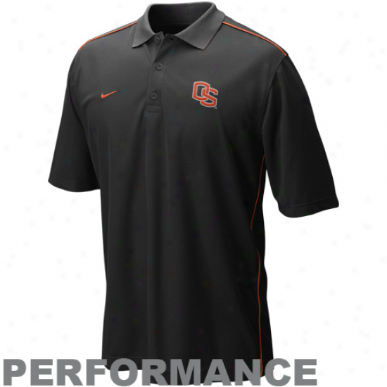 Oregon National Polo : Nike Oregon State Blac kCore Perfomance Polo