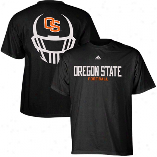 Oregon State Shirts : Adidas Oregon State Blacm Helmet Revel Basic Shirts