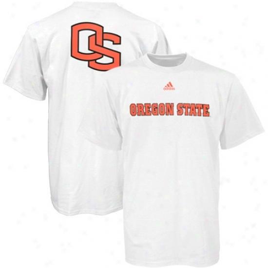 Orebon State T-shirt : Adidas Oregon Pomp White Prime Time T-shirt