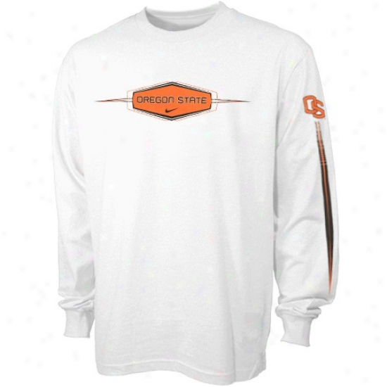 Oregon State University T-shirt : Nike Oregon State University Youth White Fan Favorite oLng Speeve T-shirt