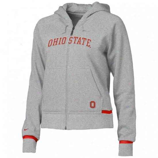 Osu Buckeye Fleece : Nike Osu Buckeye Ash Ladies Classic Felece Fleece